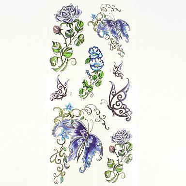 1 Model Spate Zona De Jos Waterproof Serie de Flori Acțibilde de Tatuaj