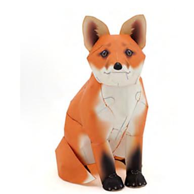 قطع تركيب3D نموذج الورق أشغال الورق مجموعات البناء ذئب الحيوانات محاكاة اصنع بنفسك ورق صلب كلاسيكي للأطفال للجنسين هدية