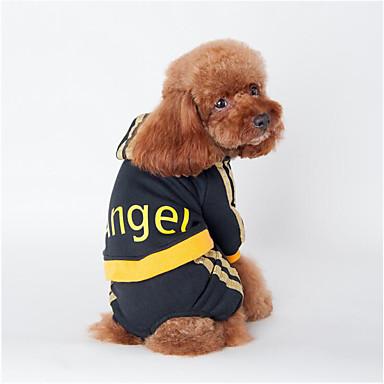 Hund Kapuzenshirts Overall Hundekleidung Lässig/Alltäglich Buchstabe & Nummer Engel Schwarz Rosa Kostüm Für Haustiere