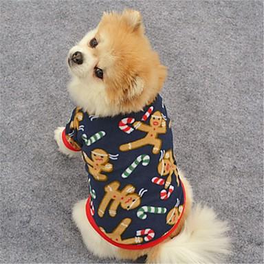 Katze Hund Mäntel T-shirt Pullover Hundekleidung Rentier Dunkelblau Braun Polar-Fleece Kostüm Für Haustiere Damen Party Lässig/Alltäglich