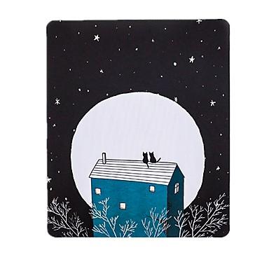 Die junge Dame ist spät Satz von Katzen Kunst Frische Illustrator Mauspad natürlichen Gummi Stoff 20 * 23.8