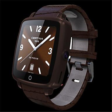 Heren Dames Modieus horloge Digitaal Waterbestendig PU Band Zwart Bruin