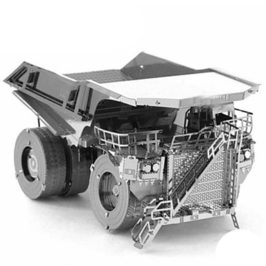 Speelgoedauto's 3D-puzzels Metalen puzzels Truck Constructievoertuig Bulldozer Speeltjes Vrachtwagen 3D DHZ Kromi Metaal Niet