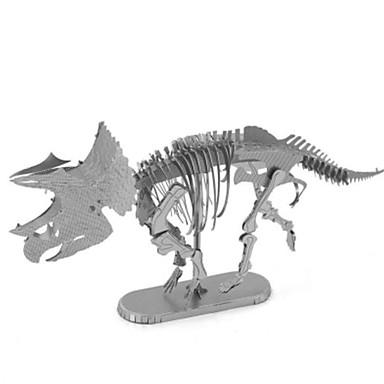 3D-puzzels Legpuzzel Metalen puzzels Modelbouwsets Speeltjes Tyrannosaurus Dinosaurus Dier 3D DHZ Inrichting artikelen Kromi Metaal Niet
