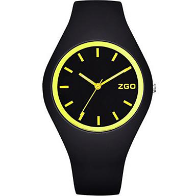 Dames Modieus horloge Kwarts Waterbestendig s Nachts oplichtend Silicone Band Zwart Groen Roze