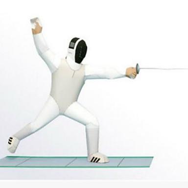 3D-puzzels Bouwplaat Papierkunst Modelbouwsets Vierkant 3D Wedstrijd DHZ Hard Kaart Paper Klassiek Unisex Geschenk