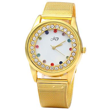 Damen Simulierter Diamant Uhr Einzigartige kreative Uhr Modeuhr Chinesisch Quartz Imitation Diamant Metall Band Glanz Gold