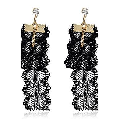 Damen Tropfen-Ohrringe Imitierte Perlen individualisiert Vintage Spitze Aleación Herzform Schmuck Für Alltagskleidung Normal Bühne