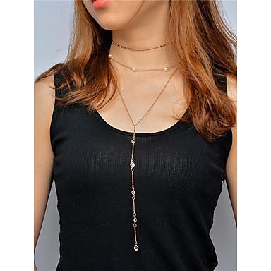Pentru femei Coliere Choker Coliere cu Pandativ Lănțișoare Cristal Obsidian Stil Atârnat Modă Multi-moduri Wear Euramerican