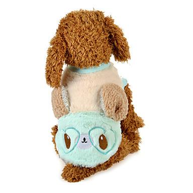 كلب T-skjorte ملابس الكلاب كارتون أزرق زهري قماش قطيفة بطانة فرو كوستيوم للحيوانات الأليفة كاجوال/يومي