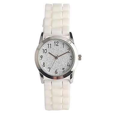 Damen Quartz Pavé-Uhr Armbanduhr Japanisch / Silikon Band Freizeit Modisch Weiß