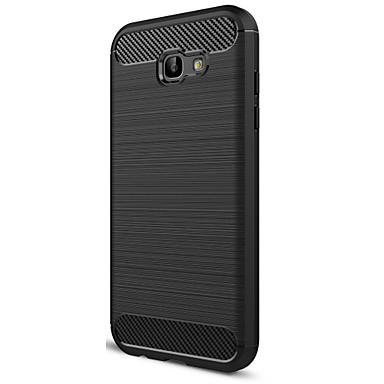 Hülle Für Samsung Galaxy Mattiert Rückseite Volltonfarbe Weich Kohlefaser für A7 (2017)