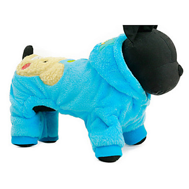كلب هوديس ملابس الكلاب كاجوال/يومي كارتون فوشيا أزرق كوستيوم للحيوانات الأليفة