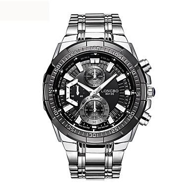 Heren Dress horloge Modieus horloge Kwarts Roestvrij staal Band Zilver