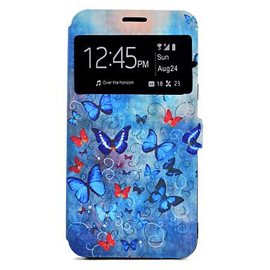 Hülle Für Samsung Galaxy J7 (2016) J5 (2016) Kreditkartenfächer mit Halterung Muster Ganzkörper-Gehäuse Schmetterling Hart PU-Leder für