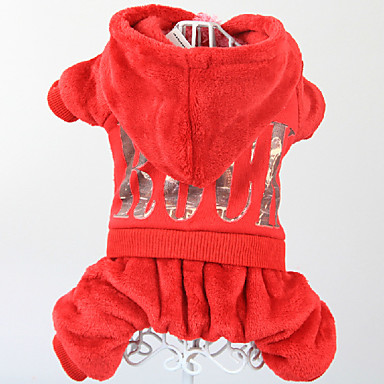 Hund Kostüme Hundekleidung Cosplay Massiv Rot