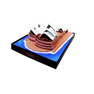 قطع تركيب3D نموذج الورق مجموعات البناء أشغال الورق ألعاب بناء مشهور معمارية 3D دار سيدني للأوبرا اصنع بنفسك للجنسين قطع