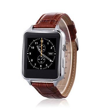 Herrn Smart Uhr digital Leder Band Schwarz Braun Gold