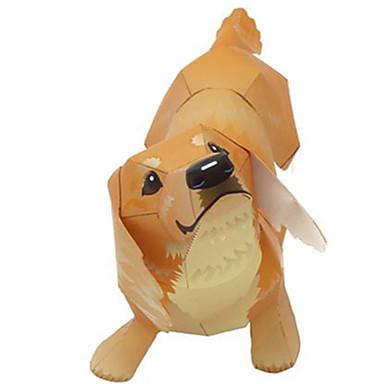 3D - Puzzle Papiermodel Spielzeuge Quadratisch Hunde Tiere Heimwerken Hartkartonpapier keine Angaben Stücke