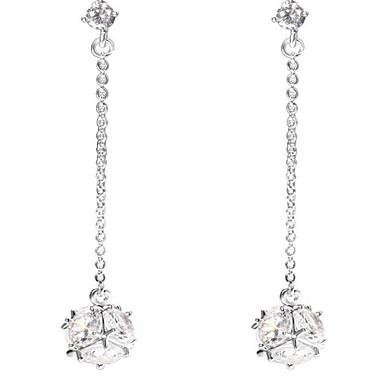 Dames Druppel oorbellen Kristal Hangende stijl Legering Geometrische vorm Sieraden Voor Bruiloft Verjaardag Formeel