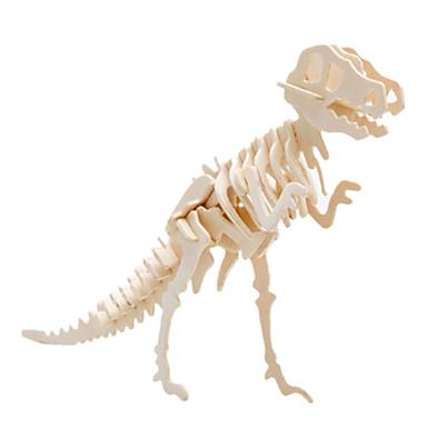 Spielzeug-Autos 3D - Puzzle Holzpuzzle Holzmodell Spielzeuge Tyrannosaurus Dinosaurier Flugzeug Berühmte Gebäude Architektur 3D Holz