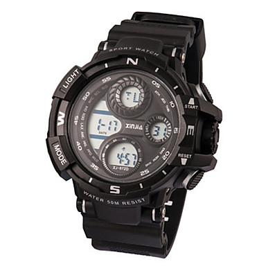 Heren Modieus horloge Digitaal Waterbestendig Rubber Band Zwart