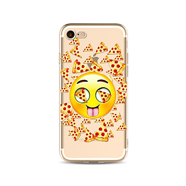 hoesje Voor Apple iPhone X iPhone 8 Plus Transparant Patroon Achterkantje Voedsel Cartoon Zacht TPU voor iPhone X iPhone 7s Plus iPhone 8