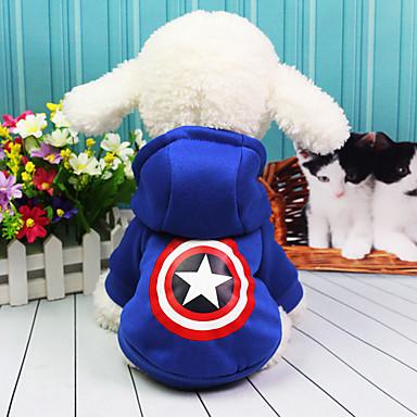 كلب ازياء تنكرية المعاطف ملابس الكلاب كاجوال/يومي الأمريكية / الولايات المتحدة الأمريكية أحمر أزرق