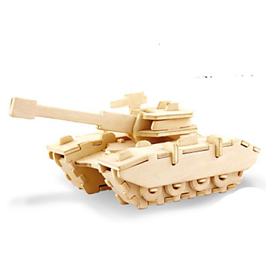 Puzzle 3D Puzzle Puzzle Metal Modelul lemnului Μοντέλα και κιτ δόμησης Jucarii Rezervor 3D Reparații Lemn Lemn natural Ne Specificat