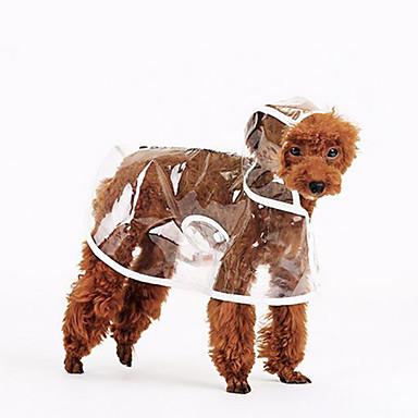 Hond Regenjas Hondenkleding Casual/Dagelijks Effen Wit Oranje Groen Kostuum Voor huisdieren