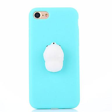 hoesje Voor Apple iPhone 7 Plus iPhone 7 squishy DHZ Achterkant Effen Kleur 3D Cartoon Zacht Siliconen voor iPhone 7 Plus iPhone 7 iPhone