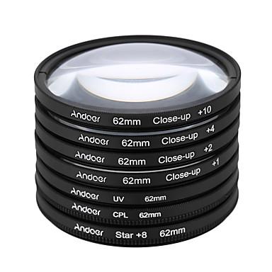 Andoer 62mm uv cpl star8close-up (1 2 4 10) filtru de fotografie ultra-violet circular-polarizant stea 8-point macro filtrul de lentile de