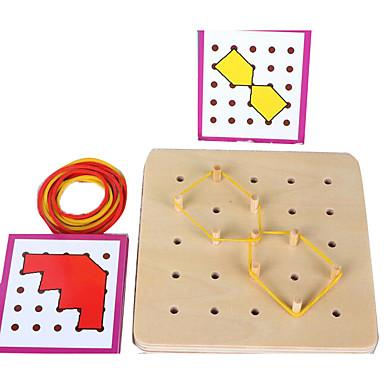Ustentile Montessori Lego Puzzle Pegged puzzle-uri Jucării Educaționale Pătrat Educație Pentru copii Jucarii Cadou