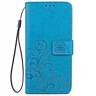hoesje Voor Overige Xiaomi Kaarthouder Portemonnee met standaard Flip Reliëfopdruk Volledig hoesje Effen Kleur Bloem Hard PU-nahka voor