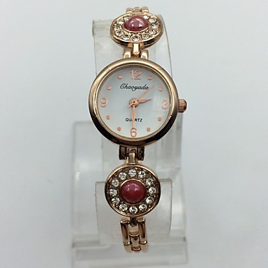 Dames Modieus horloge Armbandhorloge Kwarts Legering Band Vrijetijdsschoenen Goud Rose