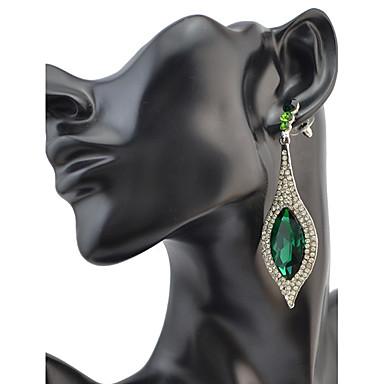 Dames Druppel oorbellen BergkristalBasisontwerp Cirkelvormig ontwerp Uniek ontwerp Bergkristallen Meetkundig Vriendschap Turks Gothic