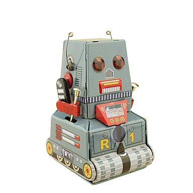 إنسان آلي لعبة الريح ألعاب مكتب / الأعمال مربع دبابة آلة إنسان آلي حديد مطاوع الحديد قديم رجعي قطع غير محدد هدية