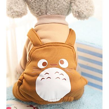 Câine Costume Haine Salopete Pantaloni Îmbrăcăminte Câini Animal Mov Cafea Rosu Bumbac Costume Pentru animale de companie Bărbați Pentru
