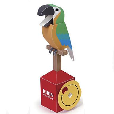 Puzzle 3D Modelul de hârtie Lucru Manual Din Hârtie Μοντέλα και κιτ δόμησης Pătrat Parrot 3D Reparații Hârtie Rigidă pentru Felicitări