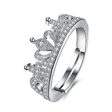 Damen Ring Kristall Kubikzirkonia Basis Einzigartiges Design Tattoo Stil Natur Geometrisch Kreis Freundschaft Vintage Luxus-Schmuck