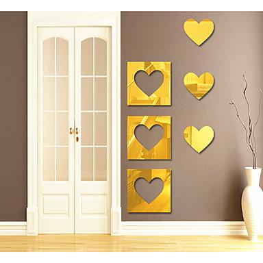 Autocolante de Perete Decorative - Acțibilduri de Oglindă Abstract / Forme / #D Sufragerie / Cameră de studiu / Birou / Cameră Copii
