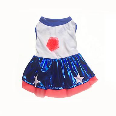 كلب الفساتين ملابس الكلاب كاجوال/يومي نجوم أزرق