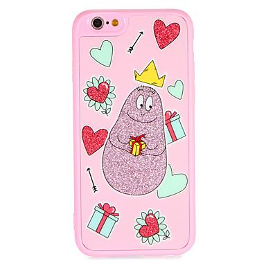 Caz pentru Apple iphone 7 plus 7 acoperă model cu lanyard spate acoperă caz inima desen animat sclipici stralucire greu pc 6s plus 6