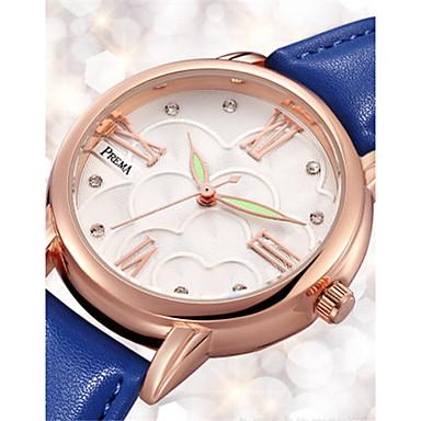 Dames Modieus horloge Unieke creatieve horloge Kwarts Waterbestendig Leer Band Zwart Wit Blauw Rood Orange
