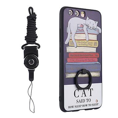 Voor huawei p10 plus / p10 hoesje vinger ringhouder met riem tpu zachte telefoon hoesje