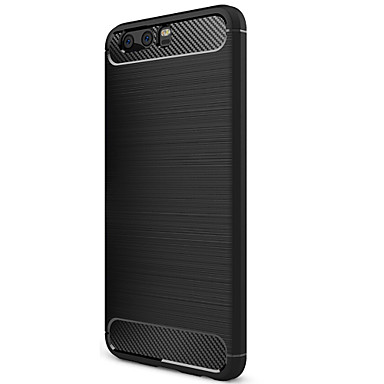 hoesje Voor Huawei Mat Achterkant Effen Kleur Zacht Hiilikuitu voor P10 Huawei