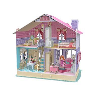 Puppen Holzpuzzle Puppenhaus Papiermodel Spielzeuge Quadratisch Berühmte Gebäude Architektur 3D keine Angaben Stücke