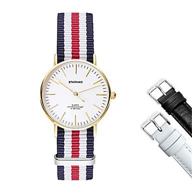 Dames Modieus horloge Kwarts Stof Band Zwart Wit