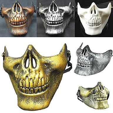 warm! Kostuum halloween airsoft schedel motorfiets schedel half gezicht cs militaire skelet krijger 3 generaties maskerade masker