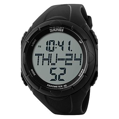 SKMEI Bărbați Ceas Sport Ceas digital Piloane de Menținut Carnea Rezistent la Apă Pedometru Cronometru Mare Dial PU Bandă Negru Verde